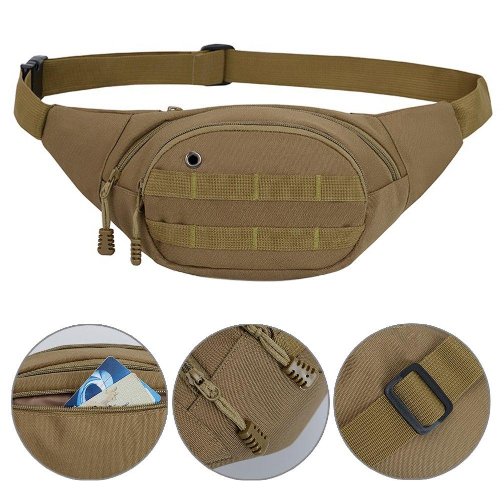 Honghong Unisex Nylon Camouflage Waterproof Sports Waist Pouch Camping Leisure Waist Bag