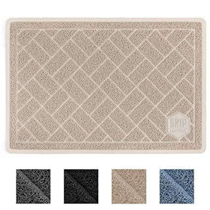 2d5c57ecc702 GRIP MASTER Durable Premium Cat Litter Mat, Highly Effective, XL Jumbo, No  Phthalate, Water Resistant, Traps Litter from Box and Cats, Scatter  Control, ...
