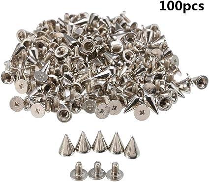 100 x Punk Spike Cone Screw Back Studs//Rivets 7mm x 10mm Leather craft Decor