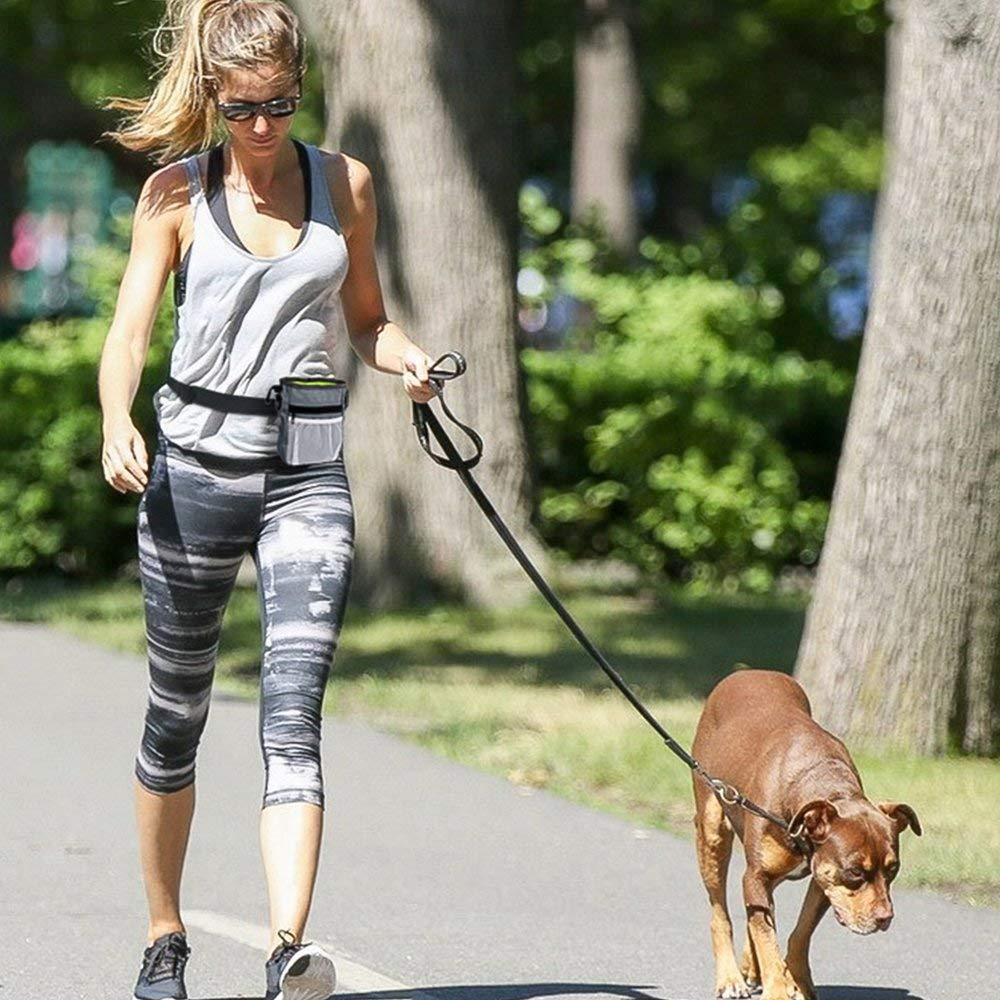 AlIXIN-Bolsa de entrenamiento para perros,3 formas de llevar,caminar,correr y. Gris