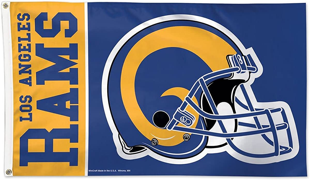 One Size Team Color WinCraft NFL Los Angeles Rams 3x5 Flag