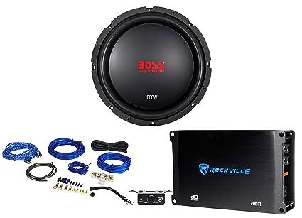 Tremendous Amazon Com Boss Audio Cxx104Dvc 10 1000 Watt Car Subwoofer Mono Wiring 101 Photwellnesstrialsorg