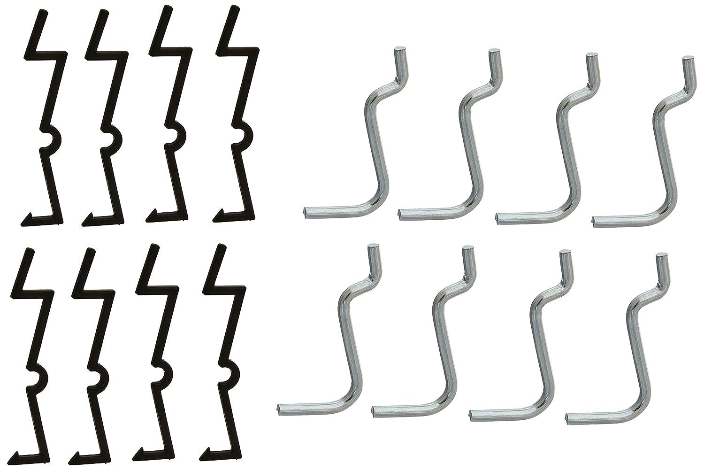 1 Carded Angle Hook Galvanized Steel 1 NATIONAL MFG//SPECTRUM BRANDS HHI N180-004 8PK 1 Galv STL ANG V2301 1 1 1//8 Rod with Lock in Design Carded 8 Pack 1//8 Rod with Lock in Design