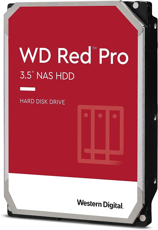 """Western Digital 8TB WD Red Pro NAS Internal Hard Drive - 7200 RPM Class, SATA 6 Gb/s, CMR, 256 MB Cache, 3.5"""" - WD8003FFBX"""