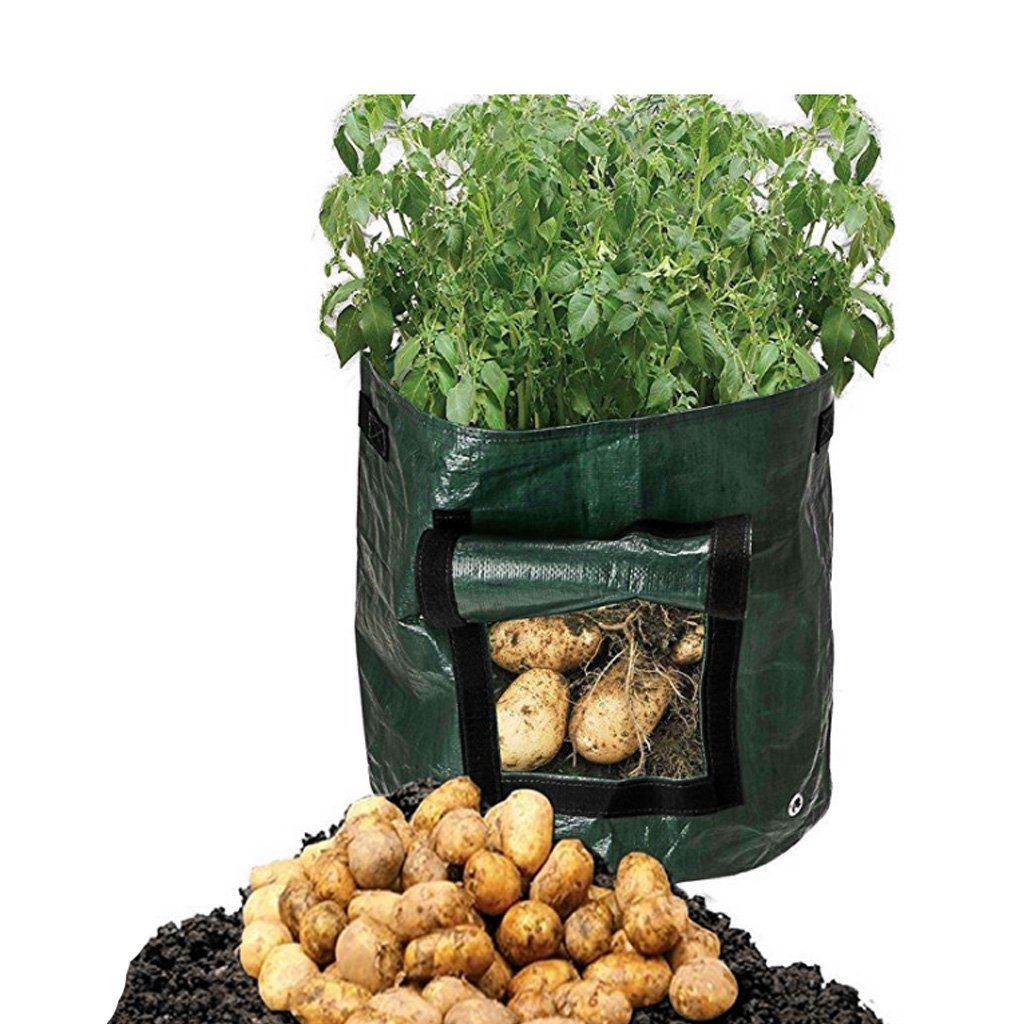 Bettal 2 Pack Garden Potato Grow Bags with Flap and Handles Heavy Duty