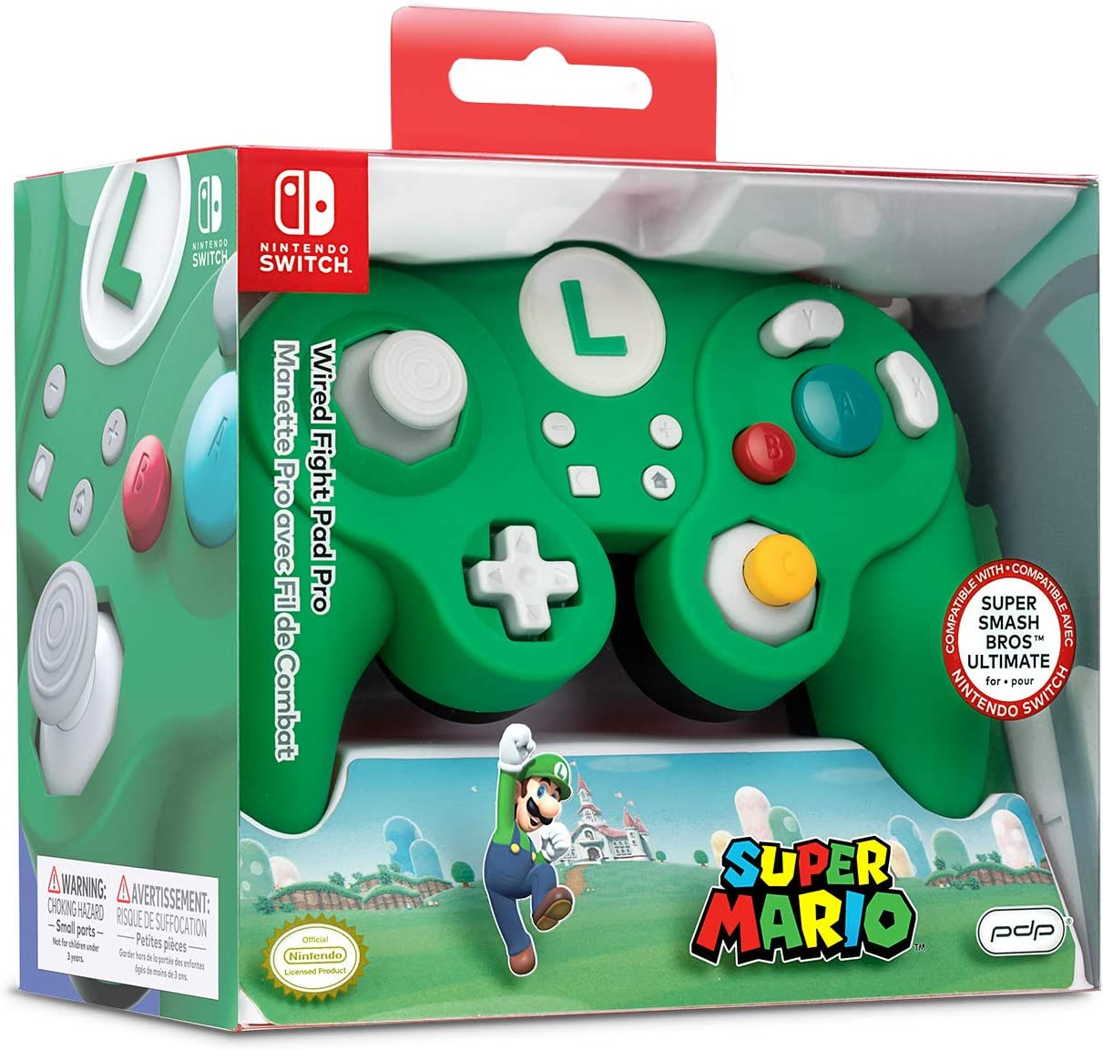 Nintendo Switch Luigi Wired Fight Pad Pro [ ] [Importación alemana]: Amazon.es: Videojuegos