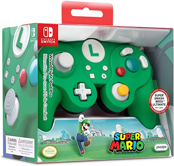 Nintendo Switch Luigi Wired Fight Pad Pro [ ] [Importación alemana ...