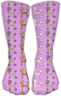 YL Unisex Funny Poodle Dogs Cotton Crew Socks Shoe US Sizes 6-10