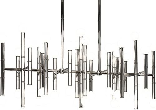 Robert Abbey S687 Chandeliers with Shades, Polished Nickel Finish