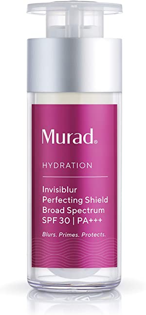 Murad Hydration Invisiblur Perfecting Shield Broad Spectrum SPF 30-3-In-1 Skin Primer for Face - Blurs, Primes and Protects - Skin Care Beauty Product for Longer Lasting Makeup