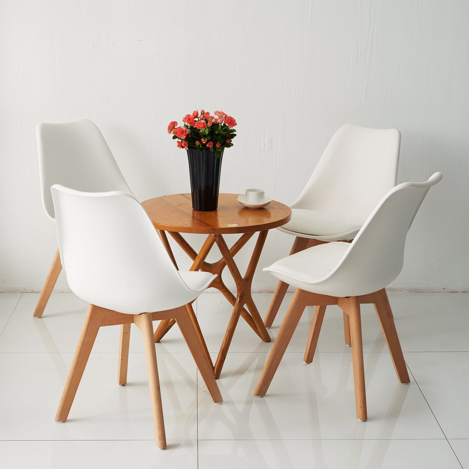 Set Of 4 Dining Chair Retro Dining Room Set Table Chairs
