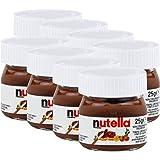 Ferrero Nutella pequeño mini diseño cristal–Set de 8a 25g, Pan, untar Crema nugat Nuez, Chocolate auftrich