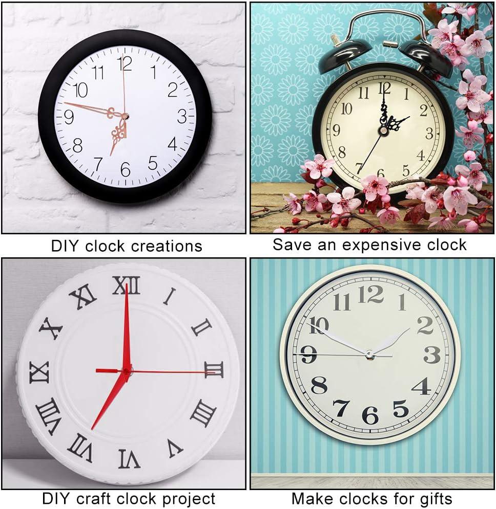 Mukum Clock Motor Movement Clock Mechanism Wall Clock Kit for DIY Repair Parts Replacement with 4 Different Pairs of Hands Clock Mechanism Replacement