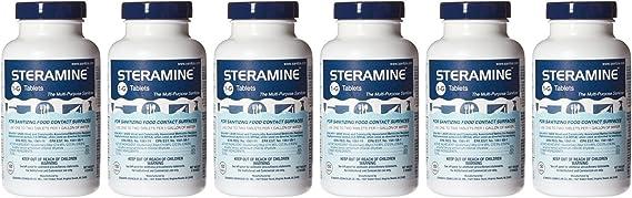 Clear Lake Enterprises Steramine Quaternary Sanitizing Tablets (6 Pack of 150 Each)