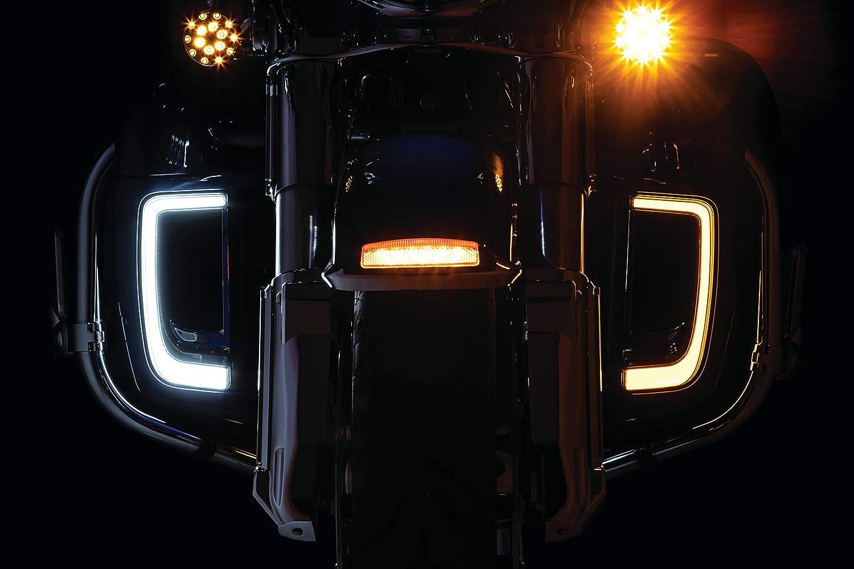 Tracer LED Running Light//Turn Signal Fairing Lower Grills for 2014-20 Harley-Davidson Motorcycles 1 Pair Kuryakyn 5063 Motorcycle Lighting Accessory Chrome