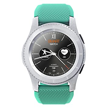 Kivors reloj inteligente, Bluetooth Smartwatch Fitness Rastreador con pantalla táctil/podómetro para Android & iOS teléfono inteligente (Verde)
