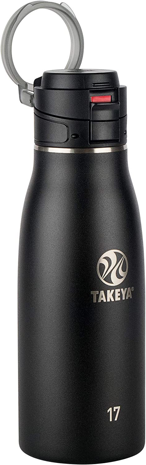 Takeya 51273 Leak Proof Insulated Travel Mug, Onyx, 17 oz