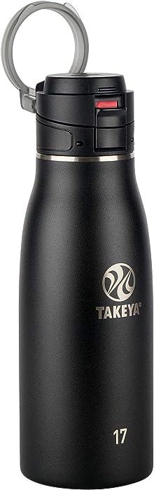 Takeya 51273 Leak Proof Insulated Travel Mug, Onyx, 17 oz