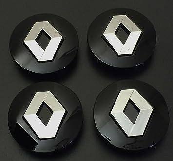 x4 57 mm Alloy ruedas Buje Center tapas Renault Negro/Chrome Logo Juego cuatro: Amazon.es: Coche y moto