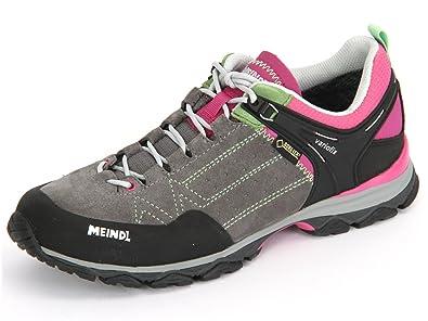 Meindl Ontario Lady GTX 39370-72 Damen Schnürschuh Sportiv Grau (Pink grau), 42 EU / 8 UK