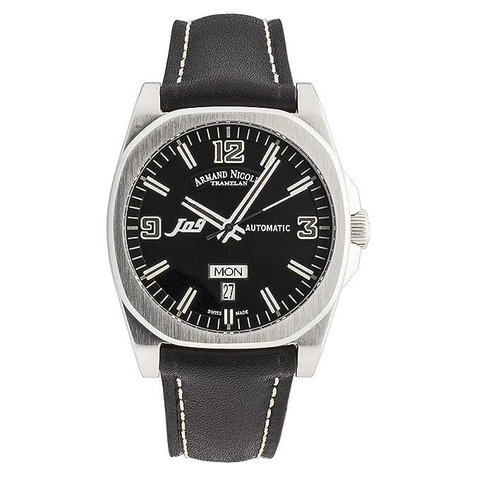 Armand Nicolet J09 Reloj de hombre automático 39mm 9650A-NR-PK2420NR: Amazon.es: Relojes