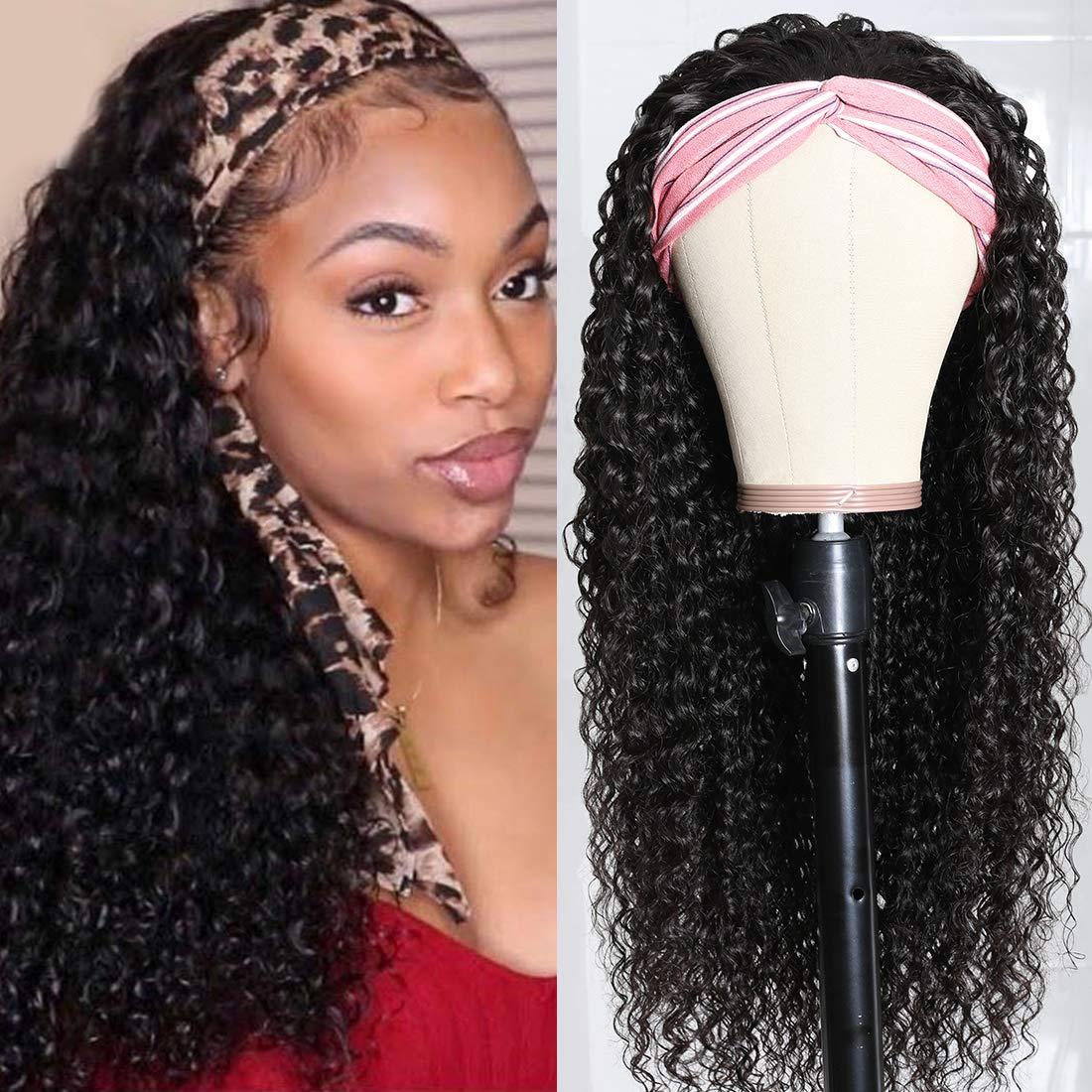 Nadula Hair Curly Headband Brazilian Easy-to-use Human Wig Popular brand in the world Jerry