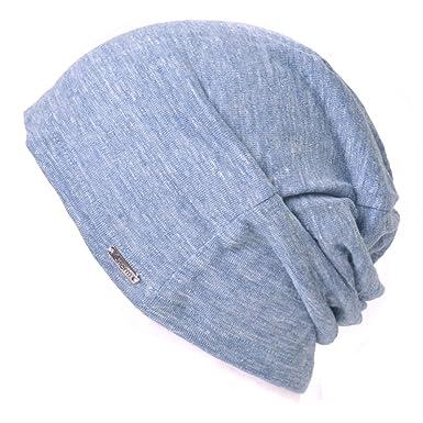 d70991e05f1 Casualbox Damen Beanie Leinen Sommer Aus Japan Hut stricken Mütze Geringes  Gewicht Blau
