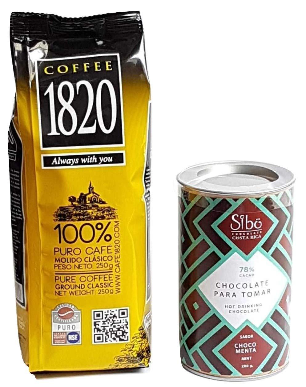 Cafe 1820 Costa Rican Coffee (250 gr) bundled with Sibu Mint Costa ...