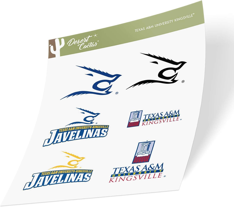 Texas A/&M University Kingsville TAMUK Javelinas NCAA Sticker Vinyl Decal Laptop Water Bottle Car Scrapbook Type 2 Sheet