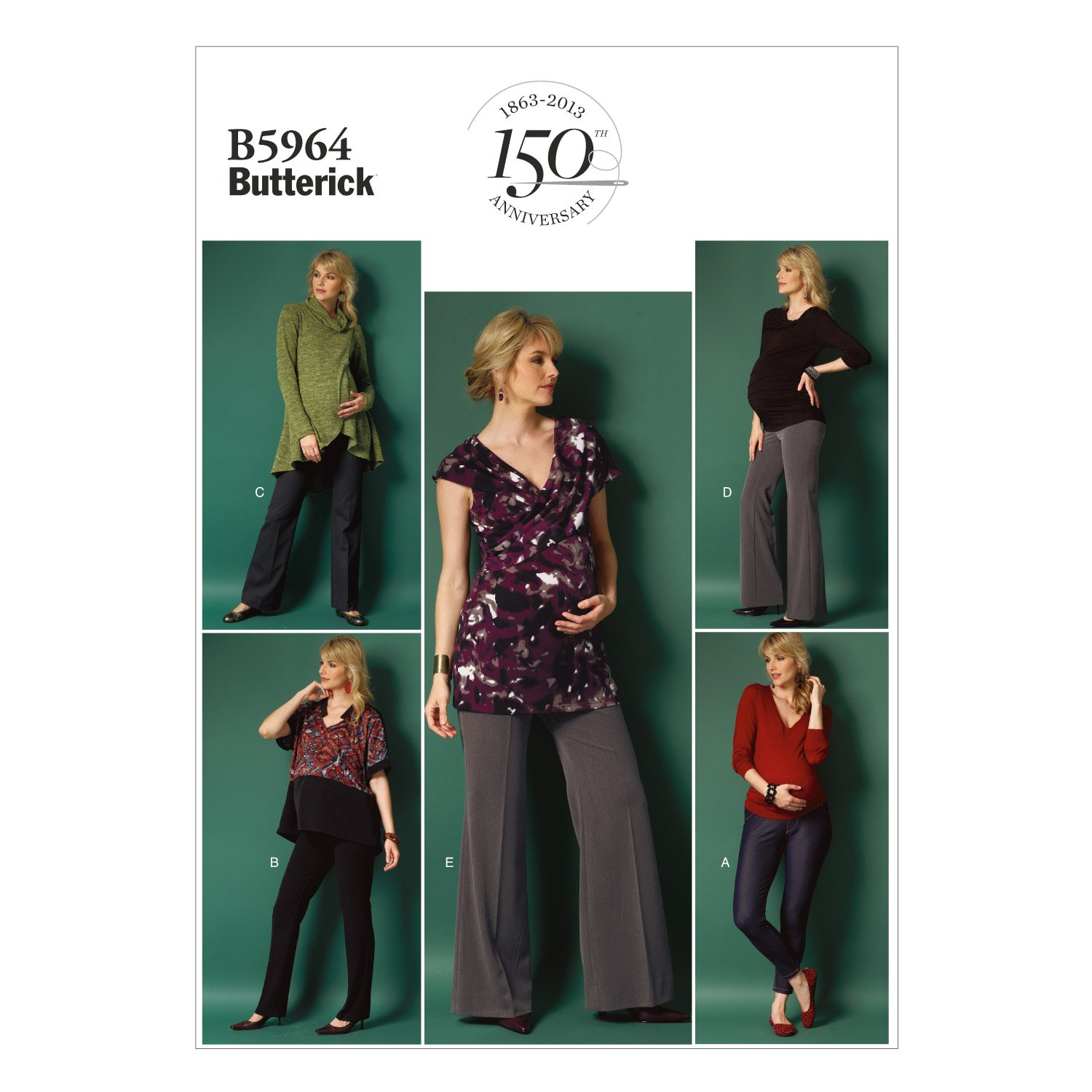 98049ee73c15c Butterick Patterns B5964 Misses' Maternity Pants Sewing Template, Size E5  (14-16-18-20-22): Amazon.ca: Home & Kitchen