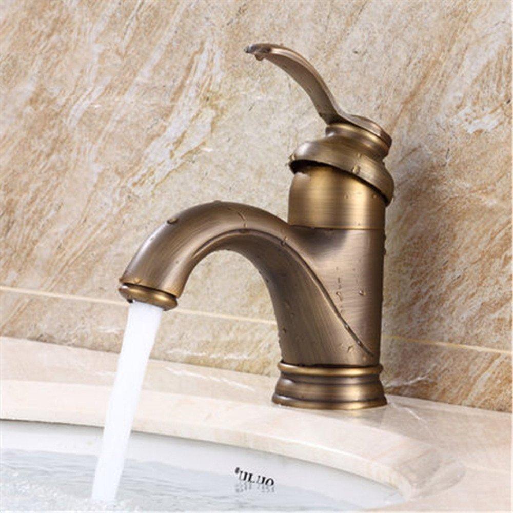 Alle Kupfer antik Waschbecken wasserhahn Continental retro Waschbecken im Desktop heißer und kalter Dusche,