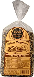 product image for Amish Country Popcorn | 2 lb Bag | Blue Popcorn Kernels | Old Fashioned with Recipe Guide (Blue - 2 lb Bag)