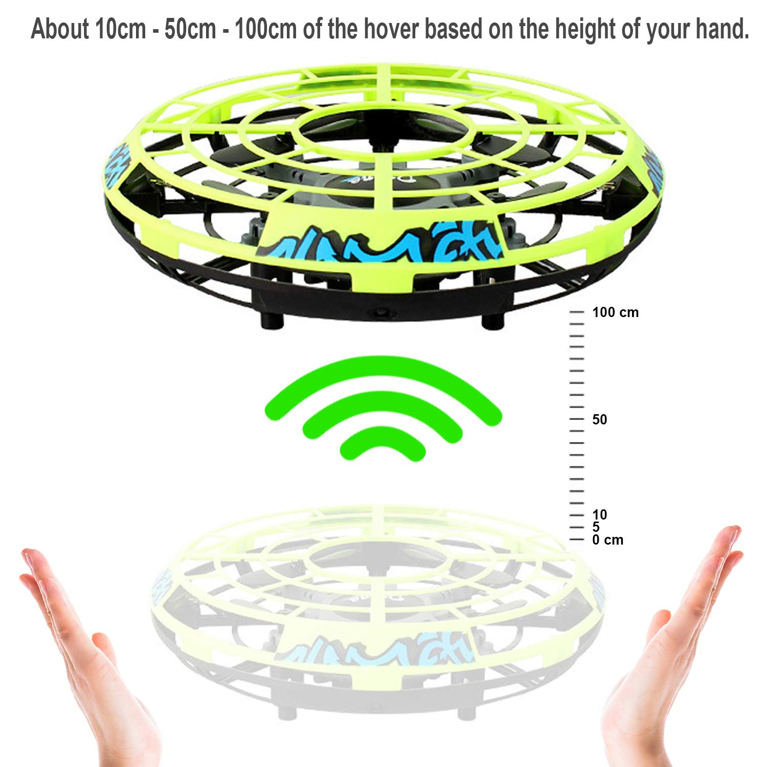Flying Ball RC Mini Drone Flying Toys Birthday Gifts for Kids Boys Girls Airplane UFO Shape Outdoor Play Toys Remote Control Interactive Infrared Induction Helicopter Flying Saucer Toys 360° Rotating by TURNMEON    (Image #6)