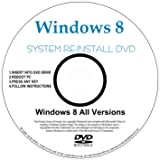 WINDOWS 8 64-Bit Compatible Versions Re-install Windows Factory Fresh! Recover, Repair, Re Install - Restore Boot Disc ~ Fix PC - Laptop - Desktop ~ AIO DVD/ROM