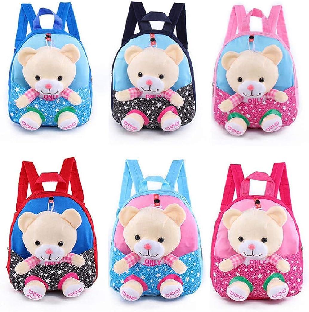 JCBD 2 in 1 3D Plush Toy Bear Detachable Backpack for Toddler Girls Lunch Bag Travel