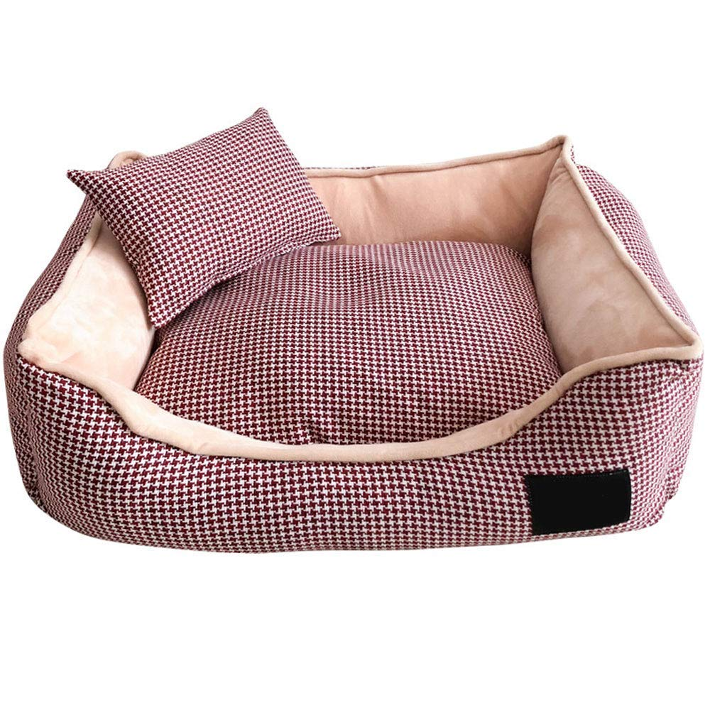 Purple Medium Purple Medium Kennel Pads Dog Beds The Dog'S Bed, Completely Removable and Washable Waterproof and Moisture-proof Pet Pad Two-sided use Dog Bed Large Dog kennel (100  80  26cm),Purple,M Cat Bed Pet Supplies Cover
