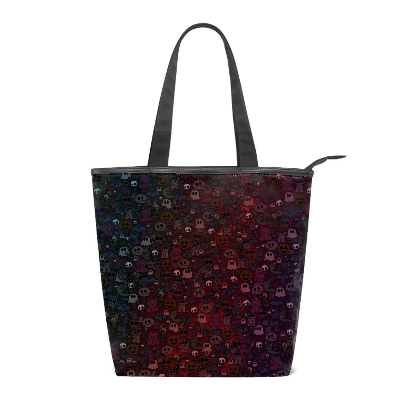 Halloween Printing Canvas Shoulder Bag Retro Casual Handbags Messenger Bags