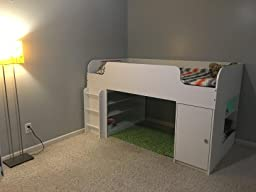Amazon Com Cosco Products Elements Loft Bed With Dresser
