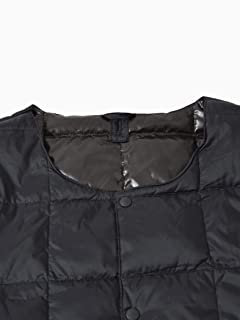 Crew Neck Button Down Jacket 118-88-0005: Black