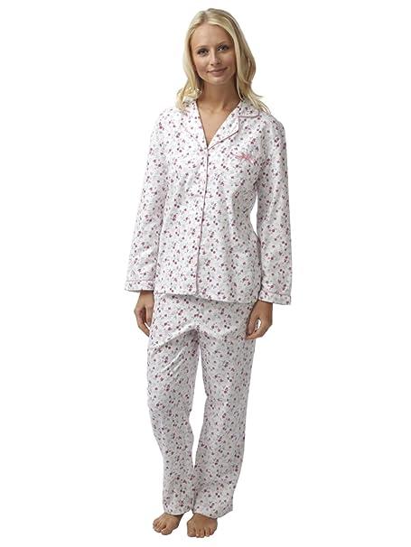 Ladies Robin 100/% Cotton Brushed Winceyette Pyjamas Sizes 8-10 10-12 14-16 18-20