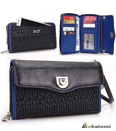 Amazon.com  Universal Wrist-let Clutch Women s PU Leather Wallet ... 3c37aaf25