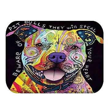 NBE Alfombra 40 * 60cm Cartoon Gatos y Perros patrón Felpudos alfombras Antideslizantes alfombras de Cocina