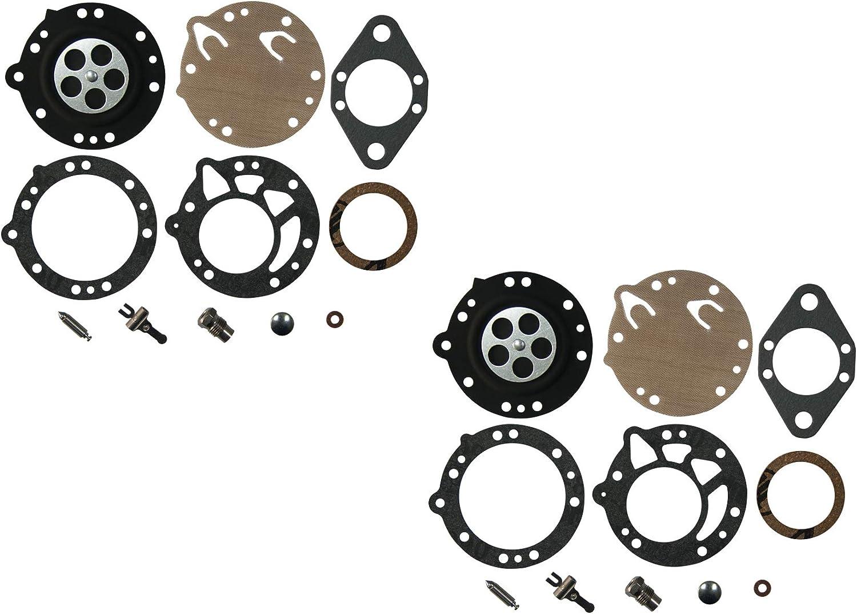 C/·T/·S Kit Riparazione carburatore per carburatore Tillotson RK-113HL per carburatore Stihl 070 090 Tillotson HL-244A HL-282A HL-282B HL-286A HL-318A HL-318E Confezione da 2