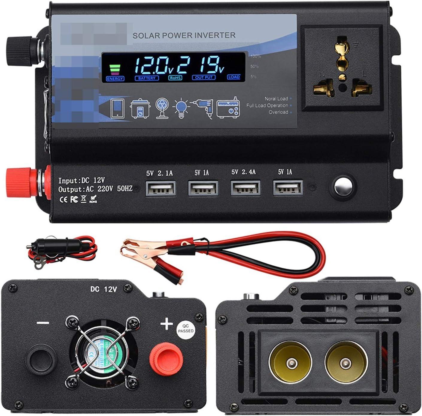 GAOLE 6000W / 4000W / 3000W INVERTIDOR INTELIGENTE DE COCHES 4 Puertos de salida USB Convertidor de onda sinusoidal modificada con pantalla LCD 110V / 240V