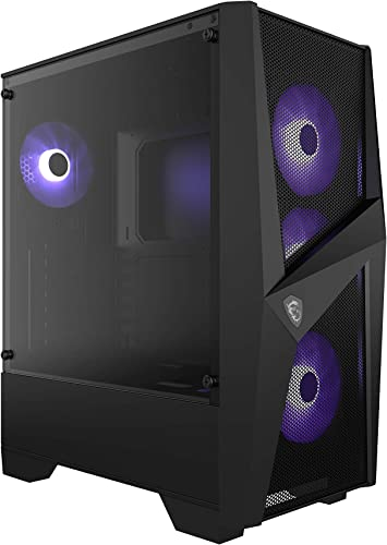 MSI MAG FORGE 101M Mid-Tower - Caja de PC Gaming (3 x 120 mm RGB + ...