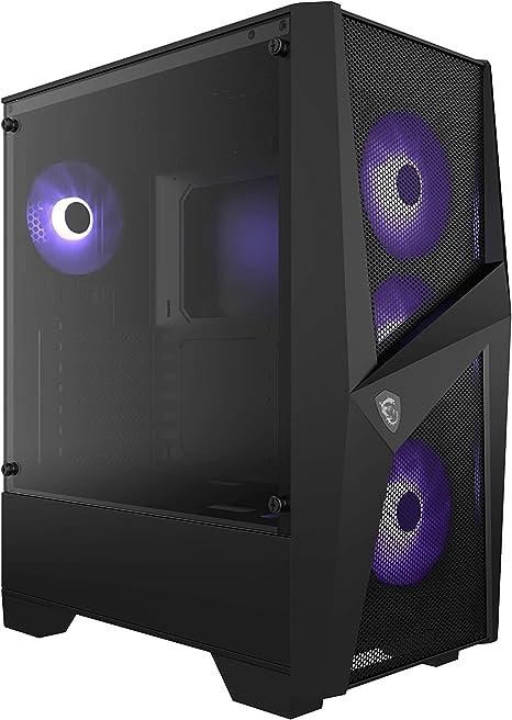 MSI MAG FORGE 101M Mid-Tower - Caja de PC Gaming (3 x 120 mm RGB + 1 x 120 mm RGB Ventiladores Incluidos, Panel Cristal Templado, ATX, mATX, Mini-ITX), negro: Amazon.es: Informática