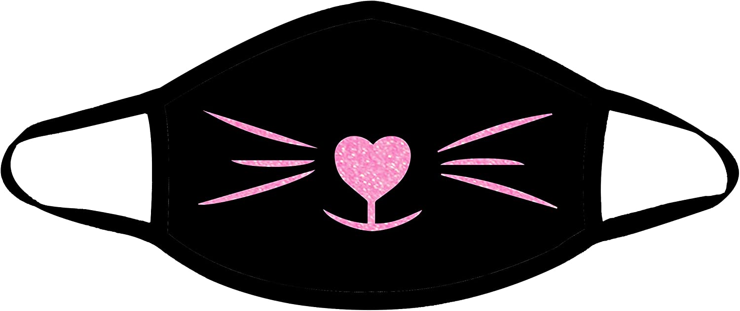 Neva Nude Meow-ZA UV Pink Glitter Cat Whiskers Face Dust Cover for Raves and Festivals