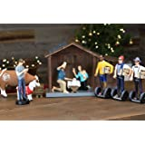 """Nativity Figurine and Stable Set - Hipster Nativity Scene - Holiday Gifts - Christmas Gifts - Millennial Christmas - Each Piece 100% Hand Painted and Made of Durable Polyresin - 7"""" Figurines- Full Set"""