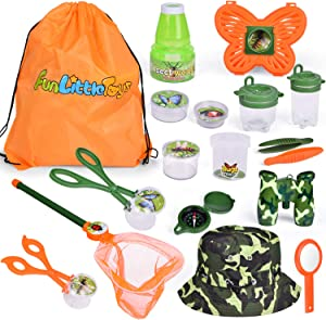 18 PCs Bug Catcher Kits for Kids, Outdoor Explorer Kit Nature Exploration Toys Set for Boys & Girls