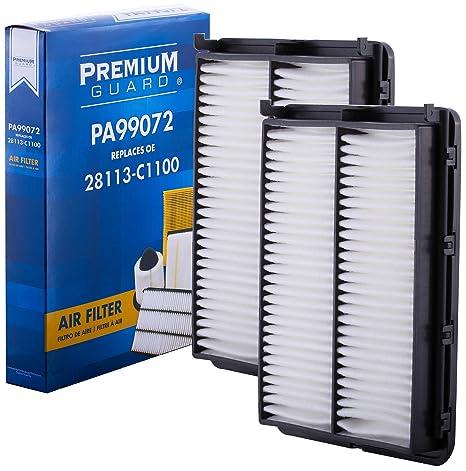 PG Air Filter PA99072   Fits 2015-18 Hyundai Sonata, 2016-18 Kia Optima  (Pack of 2)